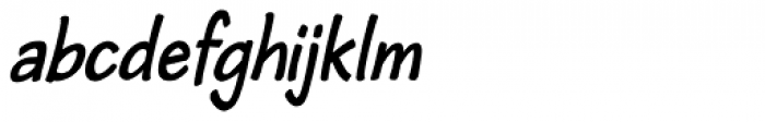 Cordin Bold Condensed Oblique Font LOWERCASE