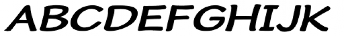 Cordin Bold Expanded Oblique Font UPPERCASE