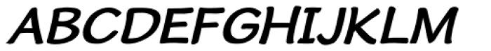 Cordin Bold Oblique Font UPPERCASE