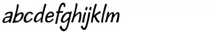 Cordin Condensed Oblique Font LOWERCASE
