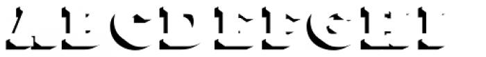 Core Magic 3D Shadow Font UPPERCASE