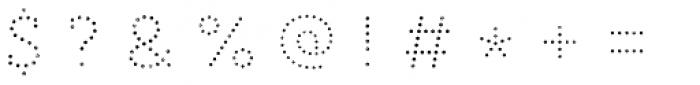 Core Magic Rough 2D Dot1 Font OTHER CHARS