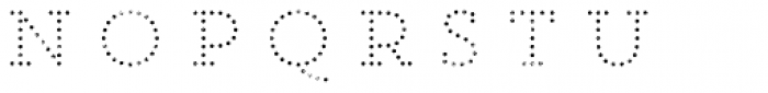 Core Magic Rough 2D Dot1 Font LOWERCASE