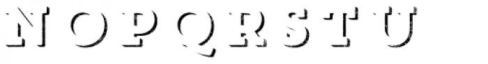 Core Magic Rough 3D Up Font UPPERCASE