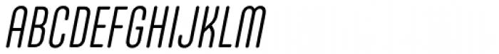 Core Mellow 39 Cp Light Italic Font UPPERCASE