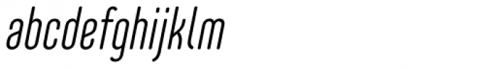 Core Mellow 39 Cp Light Italic Font LOWERCASE