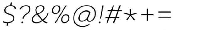 Core Rhino 25 Thin Italic Font OTHER CHARS
