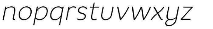 Core Rhino 25 Thin Italic Font LOWERCASE