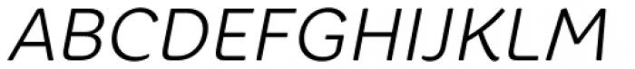 Core Rhino 35 Light Italic Font UPPERCASE