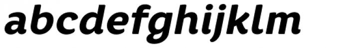 Core Rhino 75 Heavy Italic Font LOWERCASE