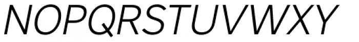 Core Sans A 35 Light Italic Font UPPERCASE