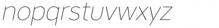Core Sans AR 15 Thin Italic Font LOWERCASE