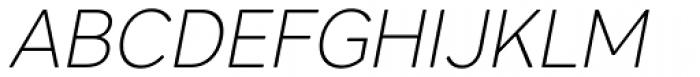 Core Sans AR 25 Extra Light Italic Font UPPERCASE