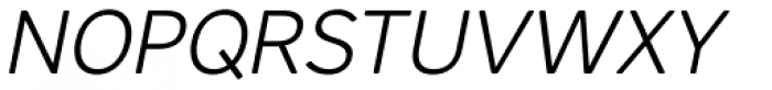 Core Sans AR 35 Light Italic Font UPPERCASE