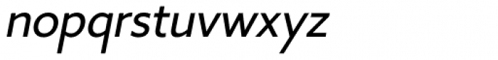 Core Sans B 35 Regular Italic Font LOWERCASE