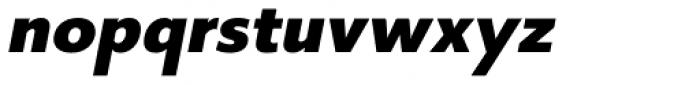 Core Sans B 65 Heavy Italic Font LOWERCASE