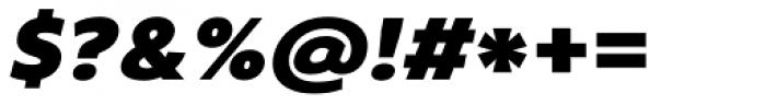 Core Sans B 75 Black Italic Font OTHER CHARS