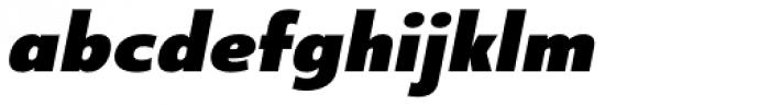 Core Sans B 75 Black Italic Font LOWERCASE