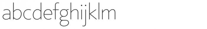 Core Sans BR 15 Thin Font LOWERCASE