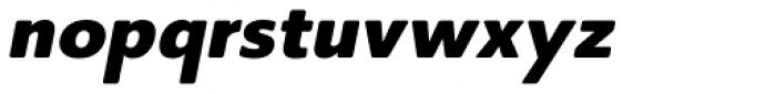 Core Sans BR 65 Heavy Italic Font LOWERCASE
