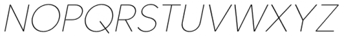 Core Sans C 15 Thin Italic Font UPPERCASE
