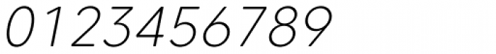 Core Sans CR 25 Extra Light Italic Font OTHER CHARS