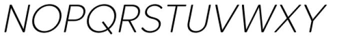 Core Sans CR 25 Extra Light Italic Font UPPERCASE