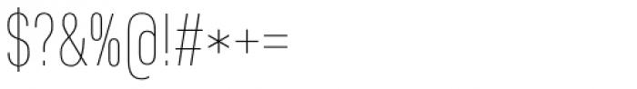 Core Sans D 17 Cn Thin Font OTHER CHARS