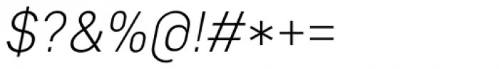 Core Sans D 25 Light Italic Font OTHER CHARS
