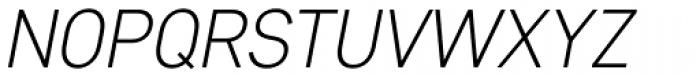 Core Sans D 25 Light Italic Font UPPERCASE