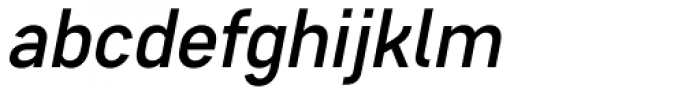 Core Sans D 45 Medium Italic Font LOWERCASE