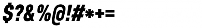 Core Sans D 77 Cn Black Italic Font OTHER CHARS