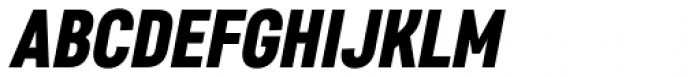Core Sans D 77 Cn Black Italic Font UPPERCASE
