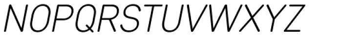 Core Sans DS 25 Light Italic Font UPPERCASE
