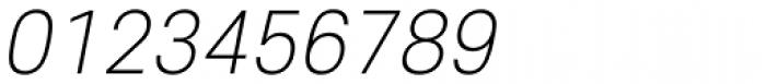 Core Sans E 25 Extra Light Italic Font OTHER CHARS