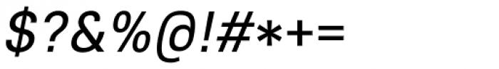 Core Sans E 45 Regular Italic Font OTHER CHARS