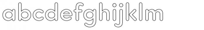 Core Sans G Outline Font LOWERCASE