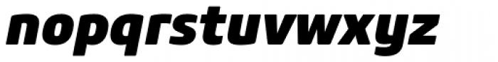 Core Sans M 85 Heavy Italic Font LOWERCASE