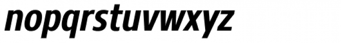 Core Sans N 67 Cn Bold Italic Font LOWERCASE