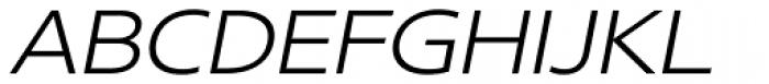 Core Sans N SC 33 Exp Light Italic Font UPPERCASE