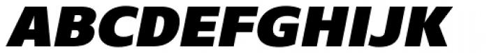 Core Sans N SC 95 Black Italic Font UPPERCASE