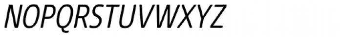 Core Sans NR SC 37 Cond Light Italic Font LOWERCASE