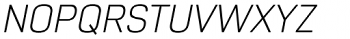 Core Sans R 25 Light Italic Font UPPERCASE