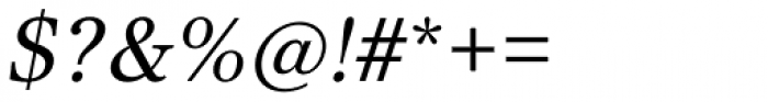 Core Serif N 35 Regular Italic Font OTHER CHARS