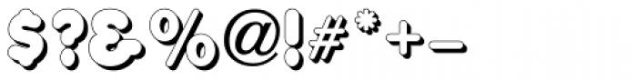 Corkboard Shadow JNL Font OTHER CHARS