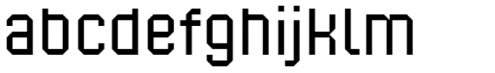 Corner B Regular Font LOWERCASE