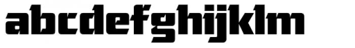 Cornered Font LOWERCASE