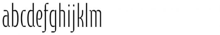 Cornerstone Pro ExtraLight Font LOWERCASE
