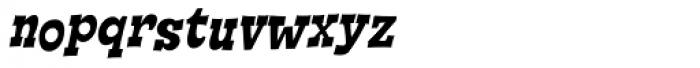 Cornpile ExtraBold Italic Font LOWERCASE