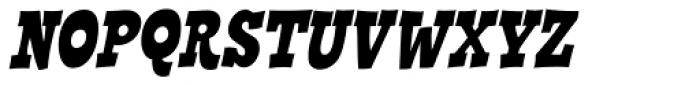 Cornpile Heavy Italic Font UPPERCASE